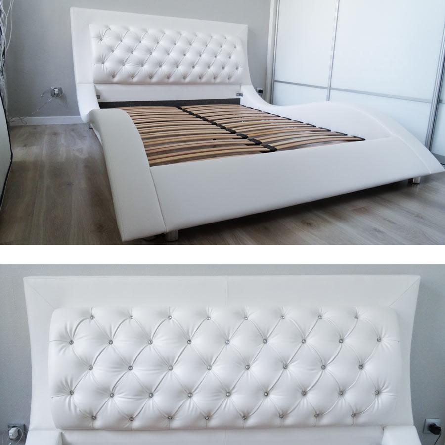 Łóżka i materace do sypialni produkowane przez MTR Meble Tomasz Rompski. Lokalizacja sklepu to Rumia, Gdynia. Na zdjęciu przykładowy mebel.